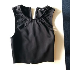 Sparkle + Fade Urban Outfitters Black Crop Top